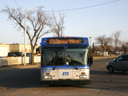 125 Pulling out of Westmount, April 2007