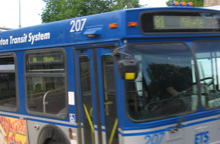 Bus #81, southbound on 99th Street, July 2007