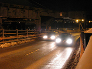 Cars crossing the high level, Jan 2007