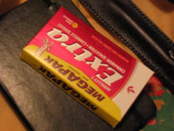 Notebook and pack of gum, March 2007