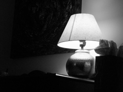 Table lamp, Kerry's Place, February 2007