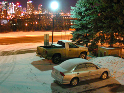 Downtown with Truck and Car, Mar 2007